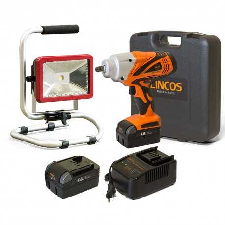 Akumulátorový rázový uťahovák + Pracovná lampa 20V