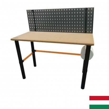 Modulárny pracovný stôl s perforovaným panelom 125x62x80cm