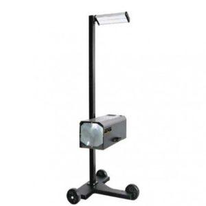 Regloskop s laserovým zamerovačom